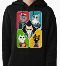 Stranger Cats Pullover Hoodie