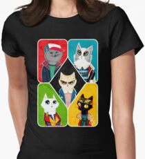 Stranger Cats Women's Fitted T-Shirt