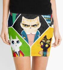 Stranger Cats Mini Skirt