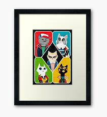 Stranger Cats Framed Print