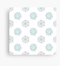 Baby pastel doodle floral pattern. Simple hand drawn seamless background.  Canvas Print