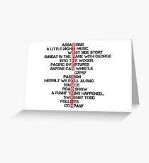 Stephen Sondheim musicals Greeting Card