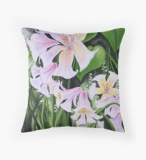 Lilies in Summer Throw Pillow