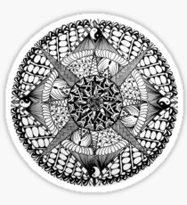 handdraw ink doodle Mandala  Sticker