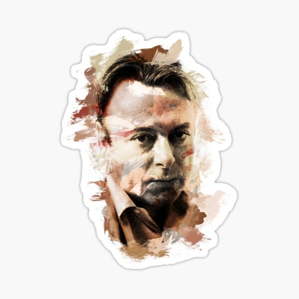 "Paint-Stroked Portrait of Activist, Christopher ""Hitch"" Hitchens Sticker"