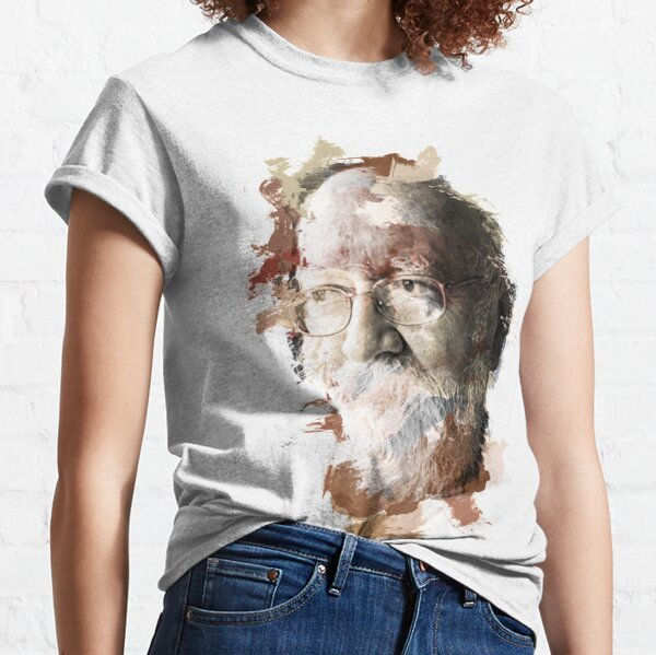 Paint-Stroked Portrait of Author and Activist, Daniel Dennett Classic T-Shirt
