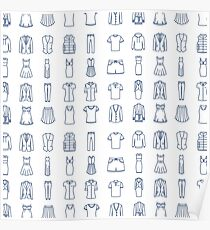 Fashion Icons Pattern Poster