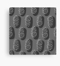 Simple abstract black pattern. Memphis style seamless background.  Canvas Print