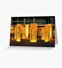 """Legends Plaza"" Greeting Card"