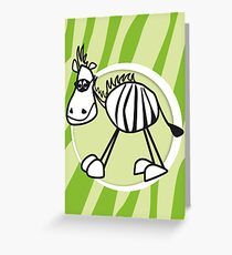 zorro the zebra Greeting Card