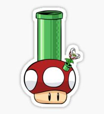 Magic bong mushroom Sticker