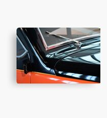 Detail of car windscreen and shining hood Canvas Print