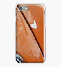 Detail of orange shining car front iPhone Case/Skin