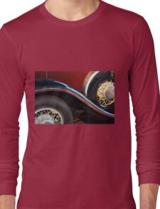 Detail of vintage car wheels Long Sleeve T-Shirt