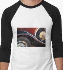 Detail of vintage car wheels Men's Baseball ¾ T-Shirt