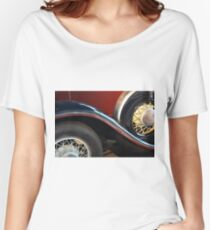 Detail of vintage car wheels Women's Relaxed Fit T-Shirt