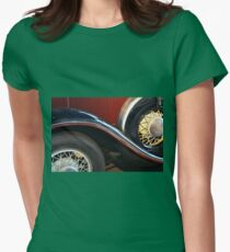 Detail of vintage car wheels Womens Fitted T-Shirt