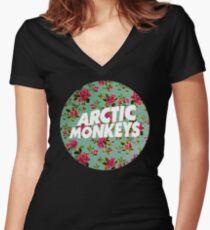 Arctic Monkeys   Flower Circle Women's Fitted V-Neck T-Shirt