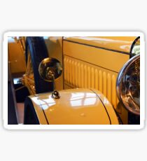 Close up on yellow vintage car Sticker