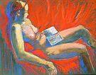 Emily Reading #2 by Virginia McGowan