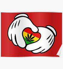 Rasta Weed hands Poster