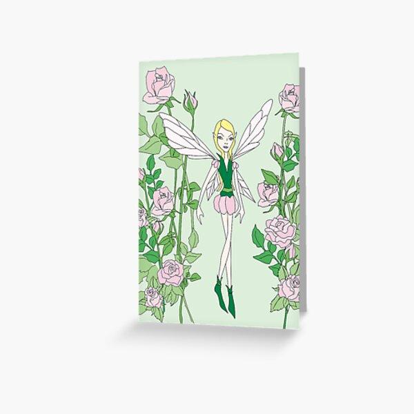 flower fairy rose Greeting Card
