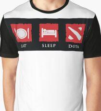 Eat Sleep Dota Graphic T-Shirt