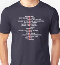 Stephen Sondheim musicals T-Shirt