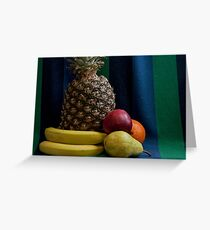 Still life with pineapple Variety Fresh Fruits Greeting Card