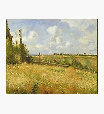 Camille Pissarro - A Rye Field, Hill Of Gratte Coqs, Pontoise 1877 Photographic Print