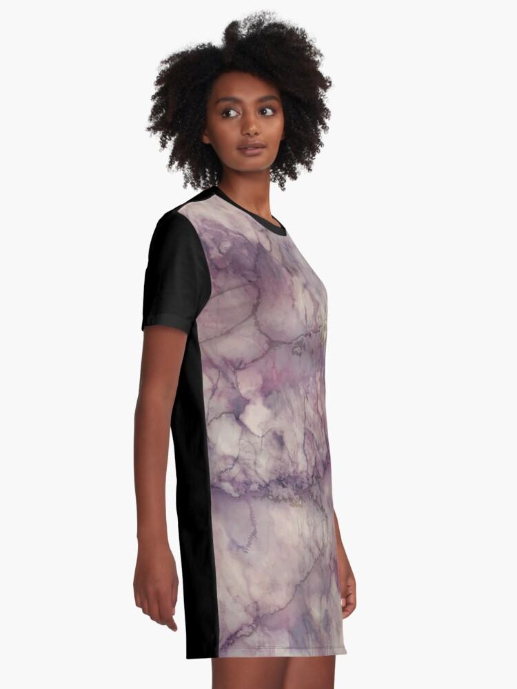 Alternate view of Marble Art V1 #redbubble #buyart Graphic T-Shirt Dress
