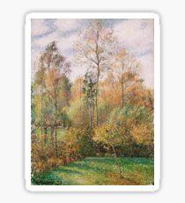 Camille Pissarro - Automne, Peupliers, Eragny (Autumn, Poplars, Eragny) 1894 Sticker