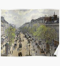 Camille Pissarro - Boulevard Montmartre - Spring, 1897 Poster