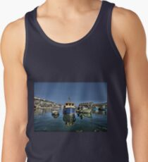 Boat in Mevagissey Harbour, Cornwall Tank Top