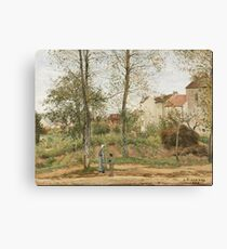 Camille Pissarro - Houses At Bougival (Autumn) 1870 Canvas Print