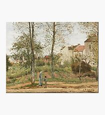 Camille Pissarro - Houses At Bougival (Autumn) 1870 Photographic Print