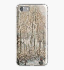 Camille Pissarro - Morning Sunlight On The Snow, Eragny Sur Epte (1895) iPhone Case/Skin