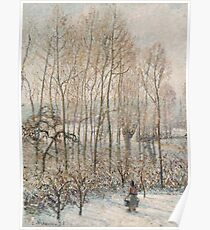 Camille Pissarro - Morning Sunlight On The Snow, Eragny Sur Epte  1895 Poster