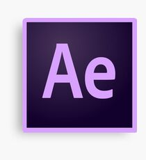 After Effects Logo Items! Canvas Print