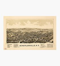 Aerial View of Schuylerville, New York (1889) Photographic Print