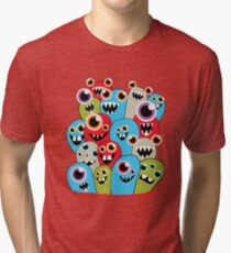 Little Cute Monsters Tri-blend T-Shirt