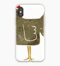 retro cartoon chicken iPhone Case