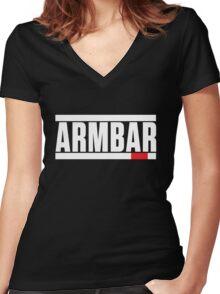 Armbar Brazilian Jiu-Jitsu (BJJ) Women's Fitted V-Neck T-Shirt