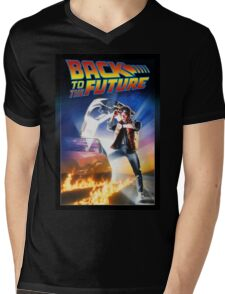 Marty To The Future Mens V-Neck T-Shirt