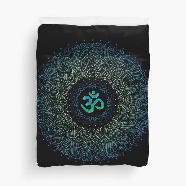 Pranava Yoga. Shanti Om. Mandala Duvet Cover