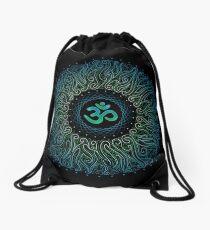 Pranava Yoga. Shanti Om. Mandala Drawstring Bag