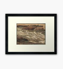Christian Friedrich Gille - Study Of Rushing Water Framed Print
