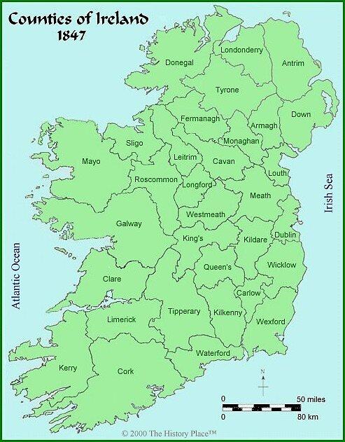 Map of Ireland by Patrick Ronan