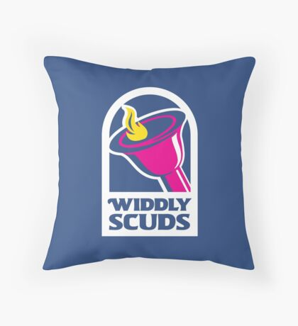 Widdly Scuds Throw Pillow