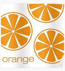 orange I Poster